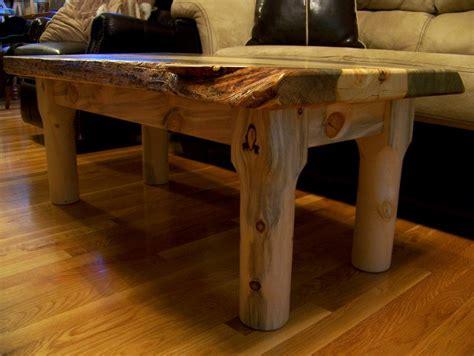 beetle kill pine slab coffee table  edge