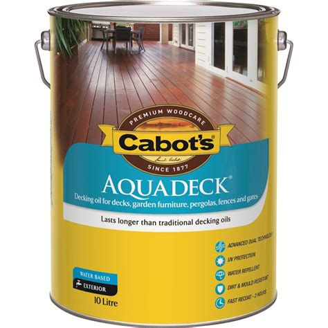 cabot s aquadeck 10l merbau exterior decking bunnings warehouse