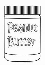 Butter Peanut Coloring Template Jelly sketch template