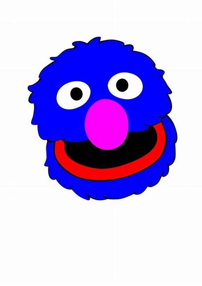 Sesame Street Vector Grover Svg Head Characters