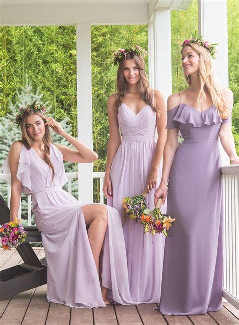 wisteria colored dresses best 25 purple bridesmaid dresses ideas on