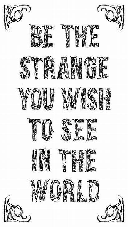 Strange Word Wish Words Clipart Quotes Alien
