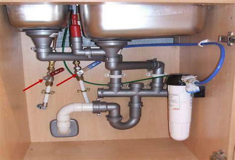 sink water shut off valve kitchen sink water valves