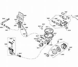 Bosch Model She43p05uc  64 Dishwasher Genuine Parts