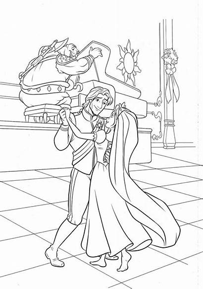 Rapunzel Coloring Pages Disney Tangled Printables Princess