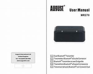 August Mr270 Manual 20160907 Mr270 Fr
