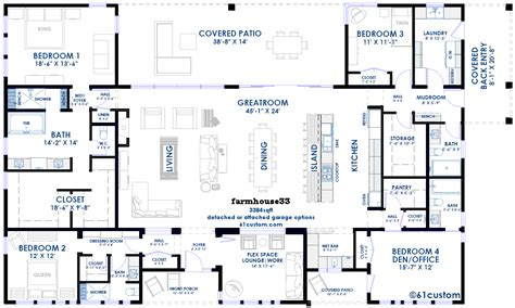 6 Bedroom House Floor Plans by 5 Bedroom Farmhouse Floor Plans
