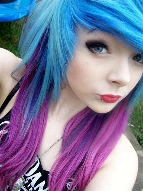 Purple Blue Andblue Hair Hair Pinterest I Love Eyes