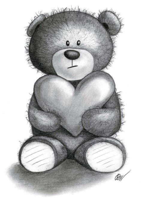 teddy bear drawings traditional art drawings