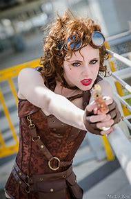 Steampunk Cosplay Redhead