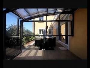 Abri De Terrasse Retractable : veranda retractable sesame verando spa youtube ~ Dailycaller-alerts.com Idées de Décoration