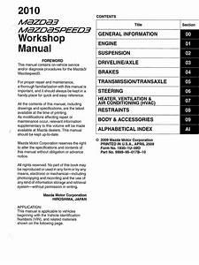 2nd Gen Mazda3 Mazdaspeed3 Workshop Manual  1