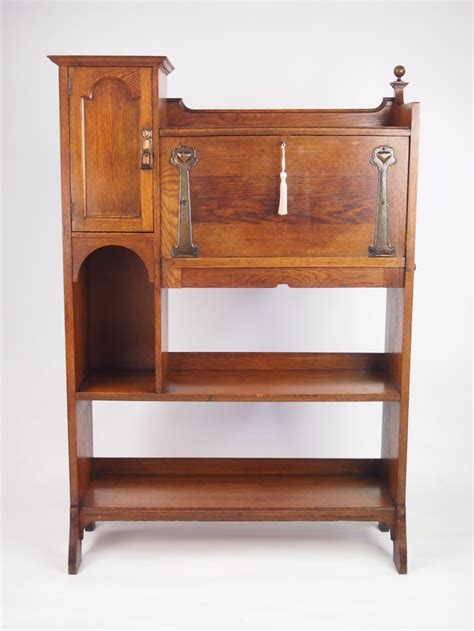hallway bureau antique arts and crafts oak bureau bookcase 267727