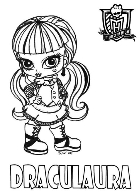 Monster High Draculaura Coloring Pages Az