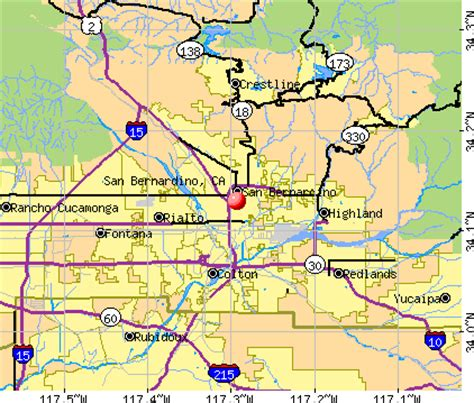 san bernardino county  map  travel information