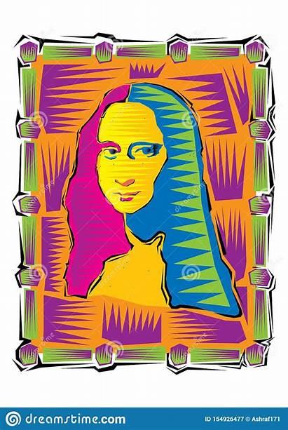 Lisa Gioconda Davinci Leonardo Mona Illustrazione Famoso