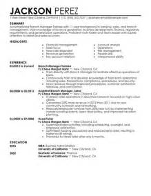 Branch Manager Resumes Sles by Best Branch Manager Trainee Resume Exle Livecareer