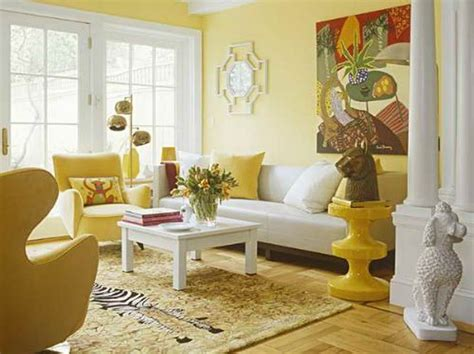 yellow paint walls living room house decor picture