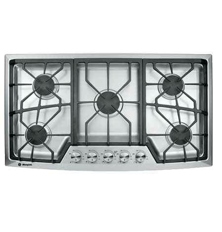 ge monogram zgulsmss  gas cooktop  dual flame stacked burners electronic ignition