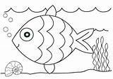 Coloring Ocean Fish Pages Printable sketch template