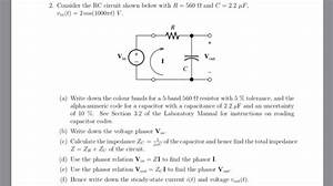 Solved  2  Consider The Rc Circuit Shown Below With R 560