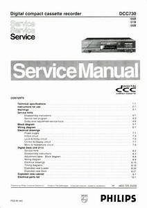 Service Manual Instructions For Philips Dcc 730