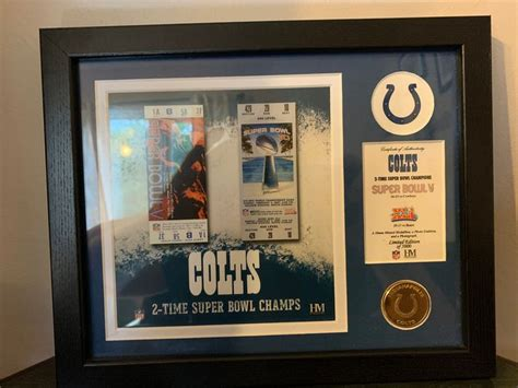 Indianapolis Colts Super Bowl 2 Time Champs Highland Mint