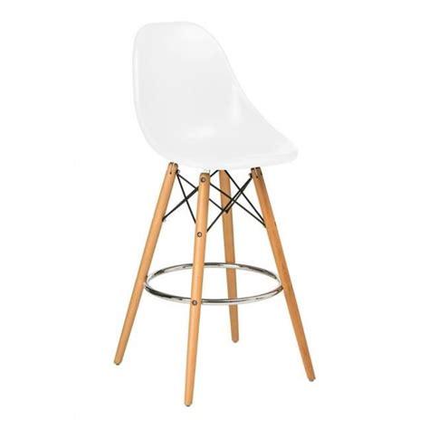 chaise blanche pied en bois chaise haute de bar design blanche pied en bois et assise