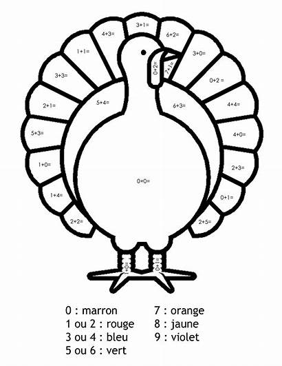 Turkey Project Coloring Addition Magic Thanksgiving Coloriage