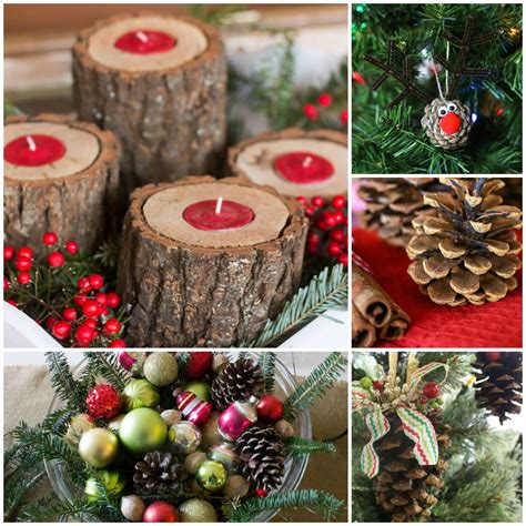 pine cone place card holders for rustic decor ideas aka free