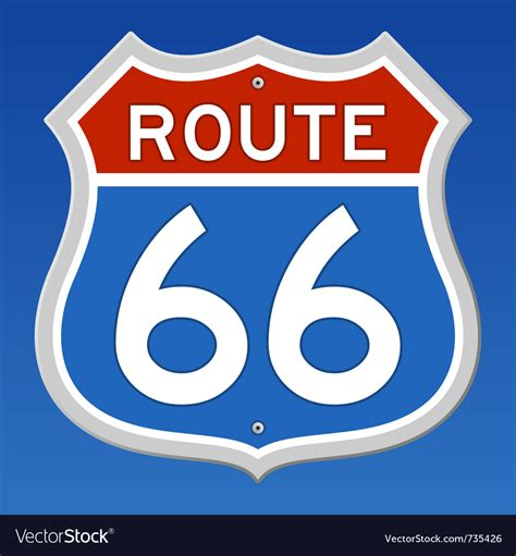 Free Route 66 Images Pictures And Royalty Free Stock Route 66 Road Sign Royalty Free Vector Image Vectorstock
