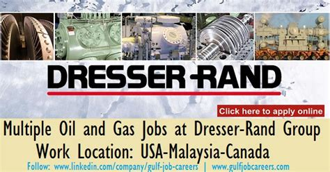 multiple oil and gas jobs at dresser rand group usa