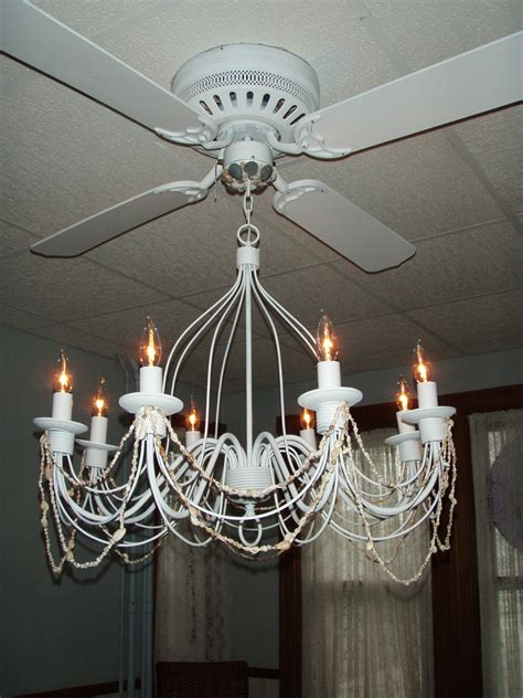 white crystal ceiling fan white ceiling fan with chandelier ceiling fan with