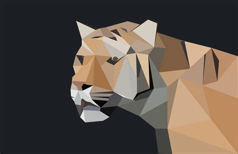 Low Poly Animal Wallpaper - low poly tiger 4k ultra hd wallpaper and background image