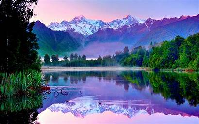 Lake Mountain Wallpapers Resolution Mountains Zealand Forest