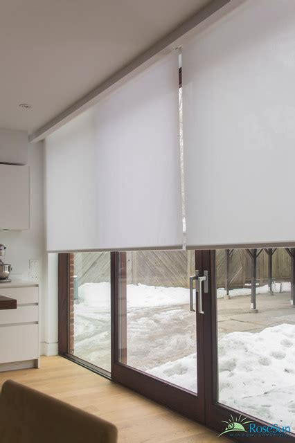 bathroom window covering ideas motorized blinds for large doors modern living room toronto by rosesun motorized window