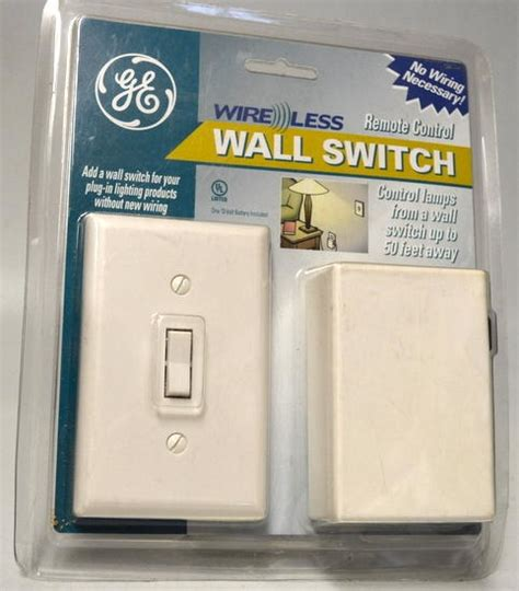ge wireless indoor remote wall switch light control 18296 ge wireless wall switch remote control no wiring