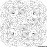 Coloring Fan Pages Fans Pattern Don Paste Eat Mandala Patterns Printable Japanese Adults Adult Sheets Donteatthepaste Lanterns Umbrelas sketch template