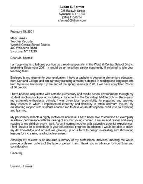 resume cover letter exles