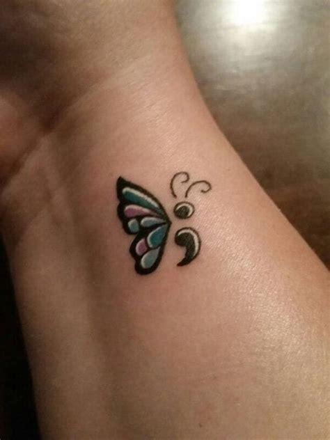 semicolon tattoo heres