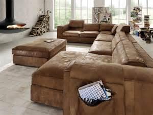 u sofa leder eckgarnitur mit hocker u form ecksofa wohnlandschaft leder wohnzimmer polstermöbel