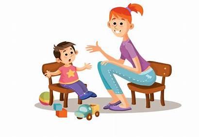 Clipart Parent Child Talk Transparent Psychologist Talking