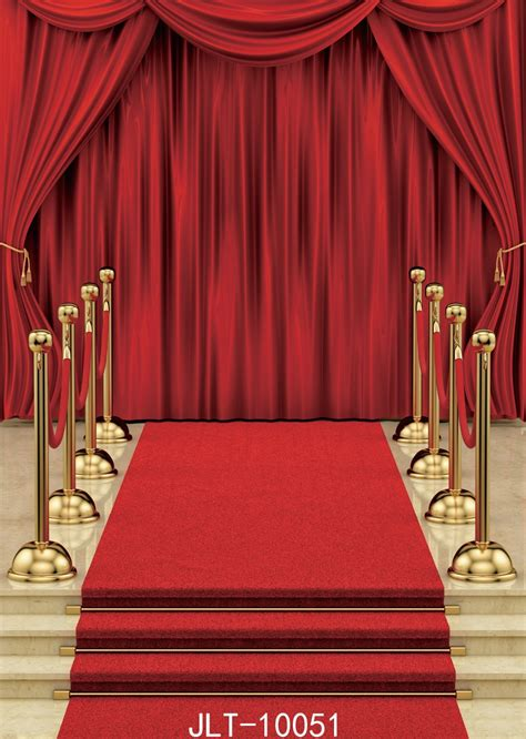 sjoloon red carpet  curtain background vinyl decoration