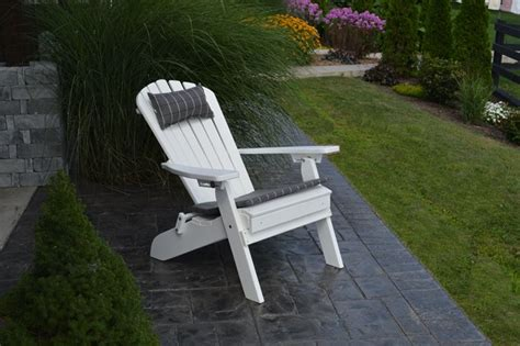 folding reclining adirondack chair w pull out ottoman