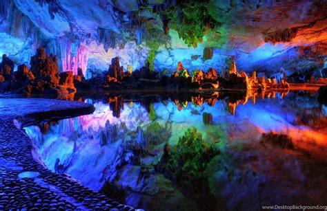 Colorful Crystal Cave Wallpaper. Desktop Background