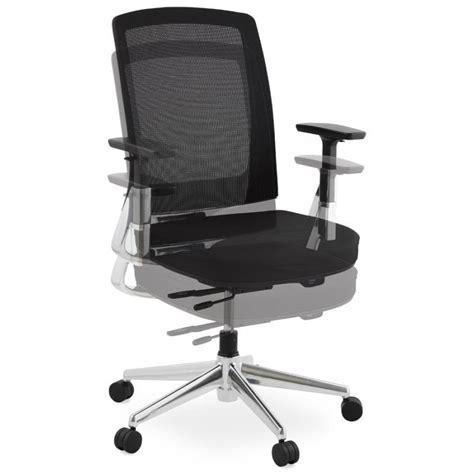 fauteuil bureau tissu fauteuil de bureau ergonomique leo en tissu noir