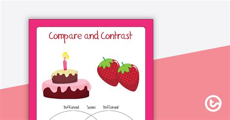 compare  contrast objects worksheets teaching