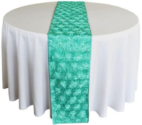 tiffany blue table runner tiffany blue aqua satin rosette wedding table runners sale