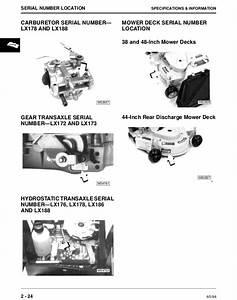 John Deere Lx176 Lawn Garden Tractor Service Repair Manual