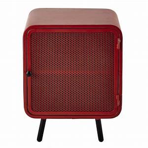Table De Chevet Rouge : table de chevet en m tal rouge l 44 cm knokke maisons du monde ~ Preciouscoupons.com Idées de Décoration
